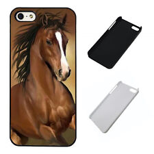 Stunning Brown Horse plastic phone Case Fits iPhone 5 6 7 8 X