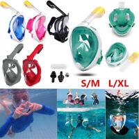Full Face Diving Snorkel Mask Swim Snorkeling Water Sports Kids Adults S/M  L/XL