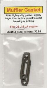 OS .15 LA Exhaust/Muffler Gasket 2 Pack NIP