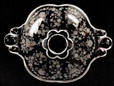 """Vintage Duncan Miller First Love Elegant Glass Etched Floral Design Bowl 8"""""""