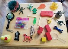 Old toy lot blocks bear horse car Disney Koosh ball Bugs Life Glam Girl Army men