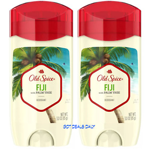 (2) Packs Old Spice Fresher Collection Fiji Deodorants3.0oz Coconuts & daydreams