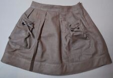 New Beautiful Designer BURBERRY Girls Taupe Skirt  Size 4Y