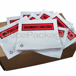 50 x A7 Printed Document Enclosed Envelopes Wallets