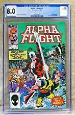 ALPHA FLIGHT #17 - 1984 (X-Men appearance) *UNPRESSED* - CGC 8.0