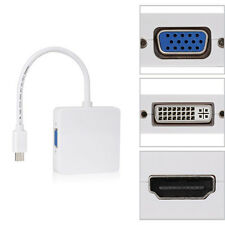 Mini DP Displayport Thunderbolt to DVI VGA HDMI Adapter 3 in1 für MacBook New