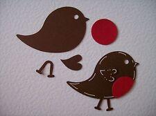 8 CHRISTMAS ROBIN REDBREAST BIRD DIE CUTS
