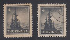 GERMANY, Soviet Zone, 1945. Thuringen, Mi 93AX, VIII, Mint **/Used