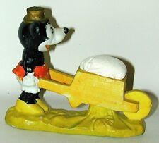 Minnie Mouse Bisque Wheelbarrow Pincushion Made In Japan Circa 1932