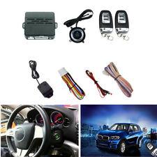 Car Alarm System w/2 Remotes Controls Keyless Entry Security Vibration Alarm Kit