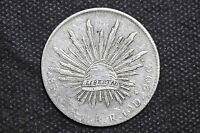 Mexico - Republic 1890 Go RR 8 Reales Silver Coin ( Weight : 26.87 g ) C13