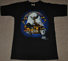 VTG 80s 90s MADE IN USA Honda Motorcycle Eagle biker America Black T shirt M