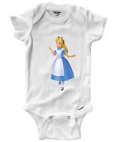 Infant Gerber Onesies Bodysuit Clothes Newborn Baby Cute Alice in Wonderland