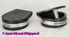 Pair of 3 inch Marine Thru Hull Wet Exhaust Flapper Cover Backflow Guard Valve