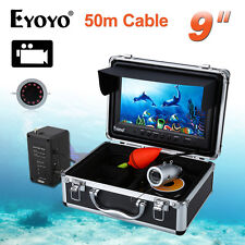 "EYOYO 50m/164ft 9"" LCD 8GB Fish Finder IR Fishing Video Camera Recorder Sunvisor"