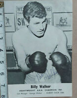 RARE BILLY WALKER HAND SIGNED  PHOTO & COA - OFFERS ACCEPTED