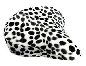 Beach Cruiser Bike Seat Cover Dalmatian Black/White Soft Fur
