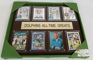 """C & I Collectables 12""""x15"""" NFL Miami Dolphins All-Time Greats Cherrywood Plaque"""