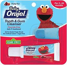 3 Pack - Baby Orajel Tooth And Gum Cleanser Fruit Flavor 0.7oz Each