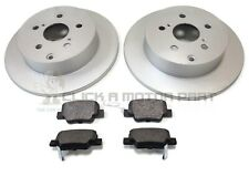 REAR 2 BRAKE DISCS AND PADS SET FOR TOYOTA VERSO 1.6 1.8 2.0 2.2 D4D 2009-2015
