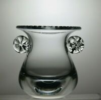 LOVELY LEAD CRYSTAL CUT GLASS VASE