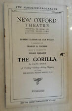 NEW OXFORD THEATRE 1920''S:NATE BUSBY - HENRY WOLSTON  LEW KELLY in THE GORILLA