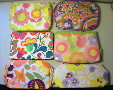 Clinique Floral Cosmetic Makeup Bags 2 Pieces: 1 Large 1 Small [6 Choices]