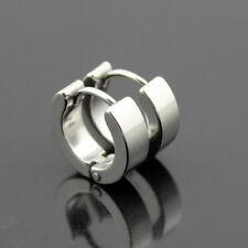 1 Pair Helix Loop Stud Ring Earrings Men Women Stainless Steel Hoop Huggie Ear