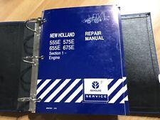New Holland 555e 575e 655e 675e Tractor Loader Backhoe Factory Repair Manual