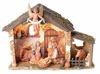 "Roman Fontanini Lighted Stable 6pc Nativity Set~ 5"" Scale, (54567) Christmas NEW"