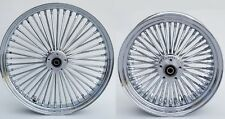 "CHROME FAT SPOKE 21 & 16"" FRONT/REAR WHEEL SET HARLEY ELECTRA ROAD KING STREET"