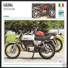 1977 Gilera 125cc TG1 & GR1 Italy Bike Motorcycle Photo Spec Sheet Info Card