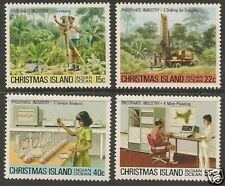 CHRISTMAS IS 1980 PHOSPHATE INDUSTRY Part I 4v  MNH