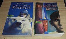 2 Bücher CARLSEN Philip Pullman Der goldene Kompass Das Magische Messer