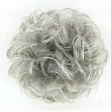 postiche chouchou chignon cheveux GRIS ref: 17 en 51
