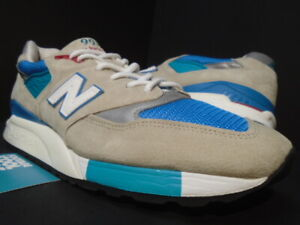 NEW BALANCE 998 M998CSB CONNOISSEUR SUMMER SAND TAN BLUE TEAL WHITE BLACK 9.5