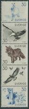 SWEDEN - 1968 'BRUNO LILJEFORS FAUNA SKETCHES' Strip of 5 MNH SG568-72 [C2411]