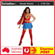 Superwoman Superhero Supergirl Wonder Woman Fancy Dress Halloween Costume S-2XL