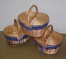 Picknickkorb klein für Kinder Einlage Einkaufskorb / Deckel Weide NEU N2-B30 BIO