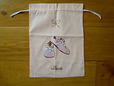 BNWOT COTTON SHOE BAG by TIMES PAST pack yr shoes for holiday or protect them