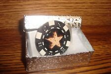 STAR Burning Flames Money Clip STAR of David Image design Aluminum Poker Chip