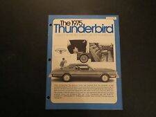1975 FORD THUNDERBIRD INTRODUCTION DEALER ALBUM BROCHURE RARE