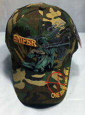 SNIPER Ball Cap US Navy SEAL Army 11B B4 Police USMC Marine 0317 8541 Hat W CAMO