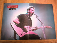METALLICA James attacks the mic  Centerfold magazine POSTER  17x11 inches