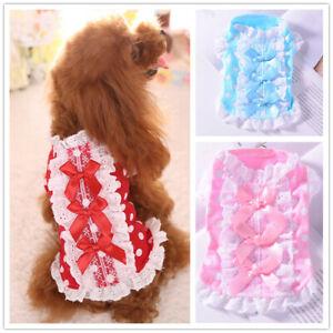 Dog Clothes Pet Shirt Puppy Dress Pajamas for Cat yorkie Teacup Maltese XXXS XXS