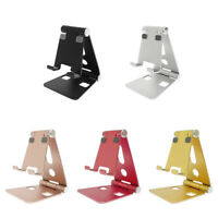 Universal Folding Aluminium Mobile Phone Desk Stand Holder For Phone Tablet Rack