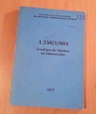 NVA Handbuch / Dienstvorschrift Grundlagen des Schießens mit Schützenwaffen 1977