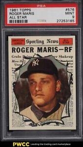 1961 Topps Roger Maris ALL-STAR #576 PSA 9 MINT