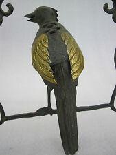 Vogel Bronze Skulptur Chinesische Nachtigall Bronzefigur Tier Garten Dekoration