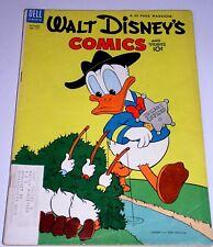 WALT DISNEY COMICS & STORIES #157 10 CT - TRUANT OFFICER COVER - BARKS 1953
